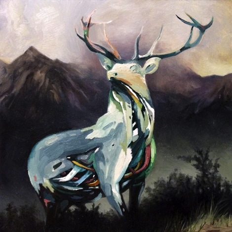 "The Buck,   2013,oil on panel,  10"" x 10"" .jpg"