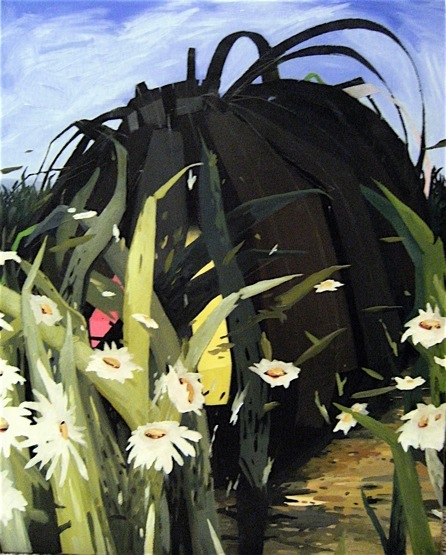"The Dark Matter in the Garden,   2011, oil on canvas,  30"" x 24"" .jpg"