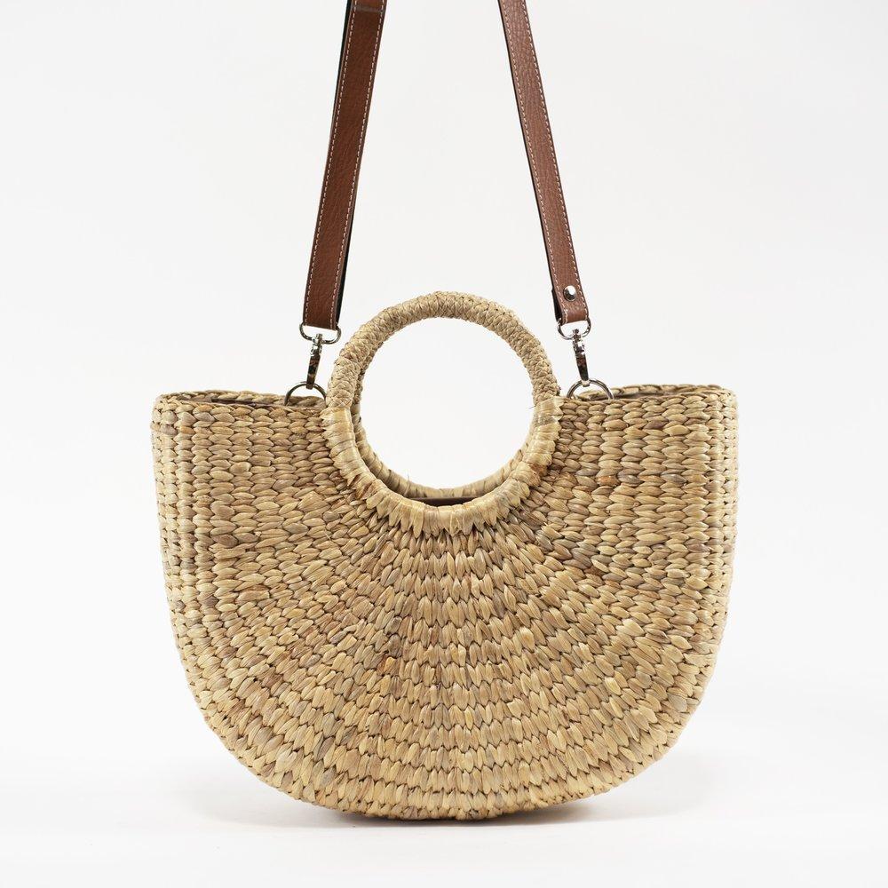 Handwoven Seagrass handbag made by Sea & Grass  SEA & GRASS