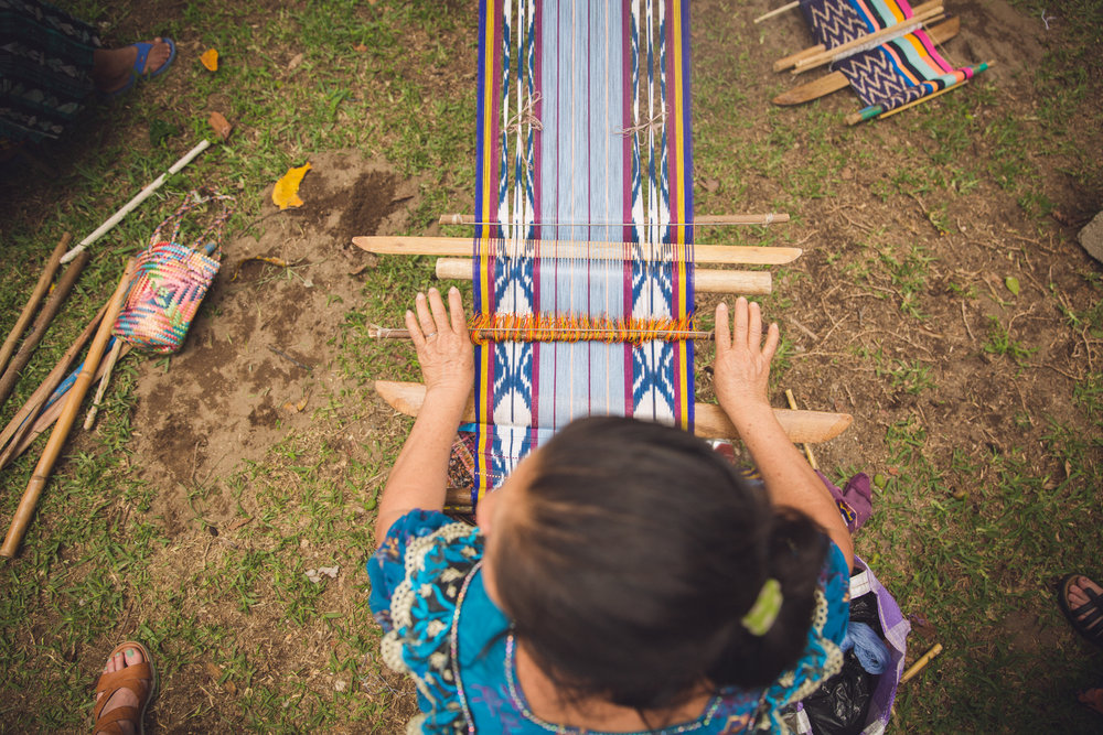 A Noonday artisan weaving in Guatemala  NOONDAY COLLECTION