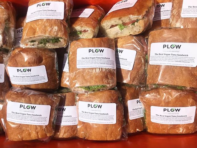 The Best Vegan Tuna Sandwich.  Now available at:  @buzzmillcoffee  @rabbitfoodgrocery  @thebeegrocery  @ flag store at 45th and Duval. . . . Want these for your grab and go section then reach out to us. We are happy to drop off samples. . . . #vegan #veganfood #plantbased #grabngo #tunasandwhich #sweetishhill #grocery #austinsandwhich #atxsandwhich #hydepark #east6th #terrytown #clarksville #plow #plantsleadourway #buzzmillcoffee #atxvegan #distribution #plantsarelife #royalblue