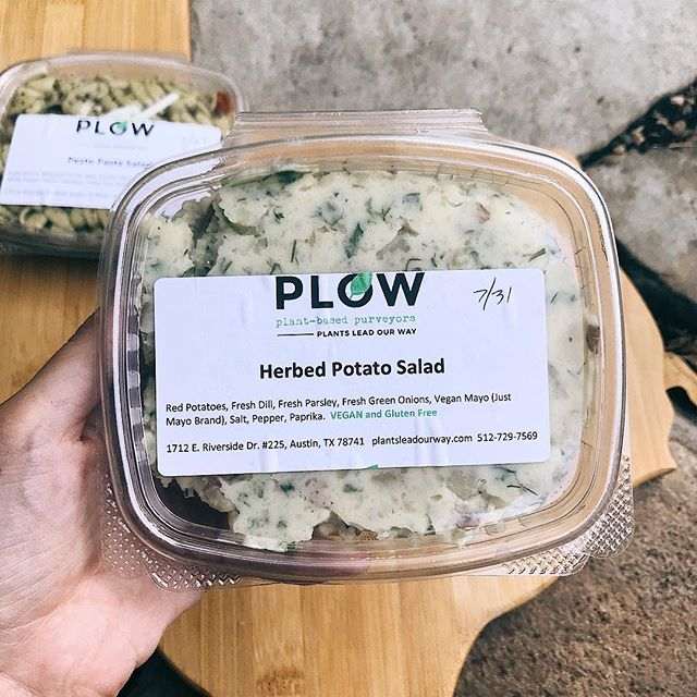 Let us introduce you to two of our newest house-made products: Herbed Potato Salad using @justforall mayo and Pesto Pasta Salad with @followyourheart mozzarella. We are currently selling these grab-n-go items at @buzzmillcoffee and @rabbitfoodgrocery ⚡️ Try them out and let us know what you think! We have some  more ideas for future grab-n-go items too so stay tuned 😉 We're just getting started, y'all! . . . . . #atxvegan #atx #austintx #potatosalad #veganrecipe #veganfood #plantpowered #keepaustineatin #keepaustinweird #dallas #sanantonio #houston #houstonvegans #dfwvegan #elpasotx #eatlocal #shoplocal #herbivore #atxeats #smallbusiness #austineats #texasvegan #followyourheart