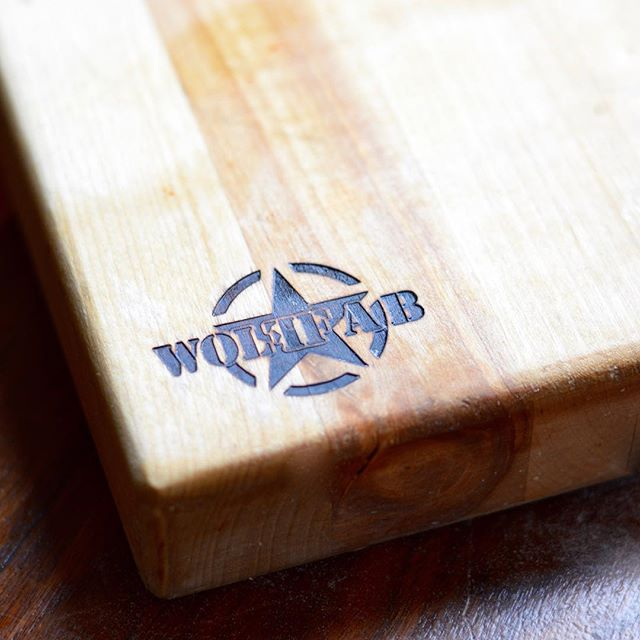 """My absolute favorite tool in our kitchen, this 1.5"""" thick maple butcher block cutting board (just don't drop it on your toe)."""
