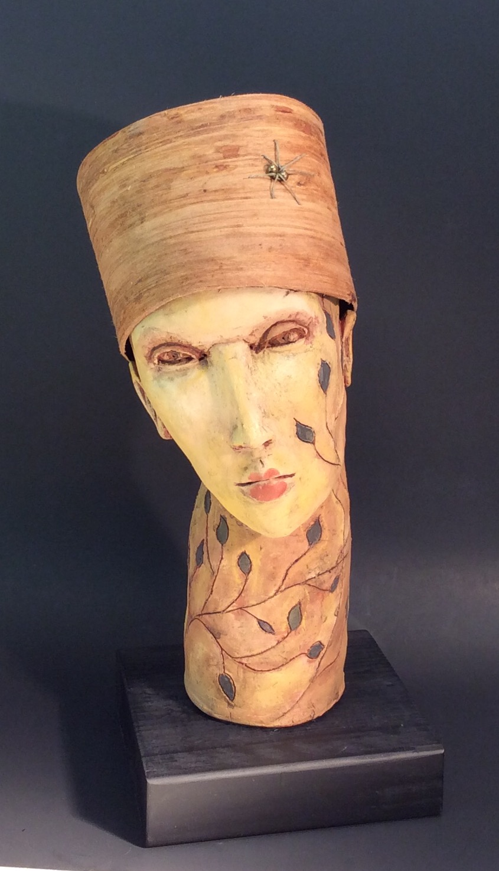 Handcrafted Ceramic Sculpture - Portrait