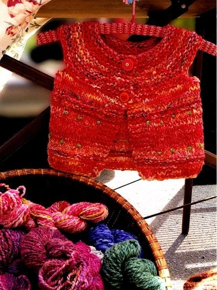Hand Knitted Child's Vest