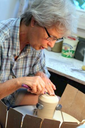 Ceramic Sculptor at Work