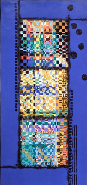 Hand Painted and Woven Textile Art