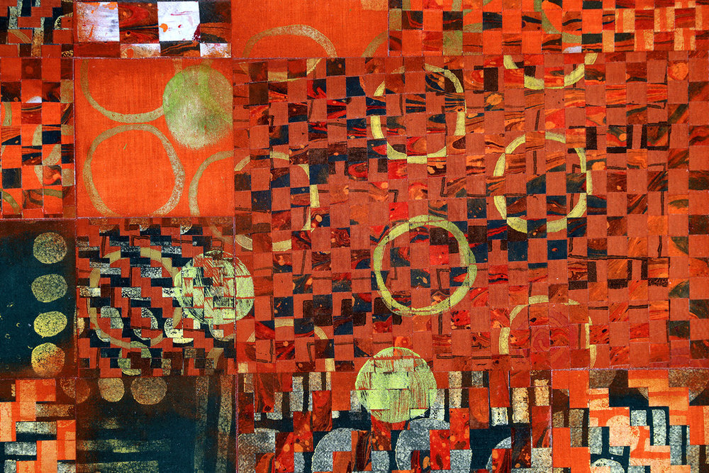 Mixed Media Textile Art for floor or wall