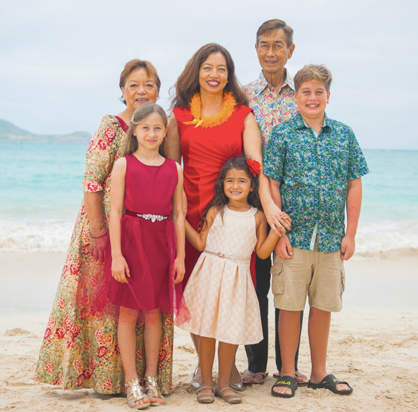 Sherry and her 'ohana have Native Hawaiian, Chinese, Japanese, and Polish roots on Hawai'i Island, Maui, and Kauai.