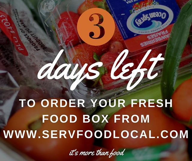 Canton, Woodstock, Holly Springs, North GA Area Friends... How many days until you can pre-order YOUR and/or Donate a SERV Food Local FRESH PRODUCE box? THREE!  Go to servfoodlocal.com and place your pre-order TODAY! #food #freshfood #freshproduce #life #morethanfood #foodfirst #feedingtheworld #endhunger #foodnonprofit #foodaccess #humanitarian #serv #local #localoutreach #global #globalmissions #millionsofmeals #giveback #changetheworld #share #sustainability #nutrition #superfood #worktogether #hopeforthehungry