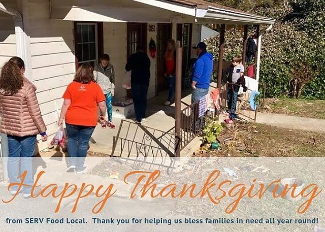 HAPPY THANKSGIVING from us at SERV.  We are so thankful we are able to use food both locally and globally as a platform to share Christ! #MORETHANFOOD  #SERVFirstFruits  www.servfoodlocal.com