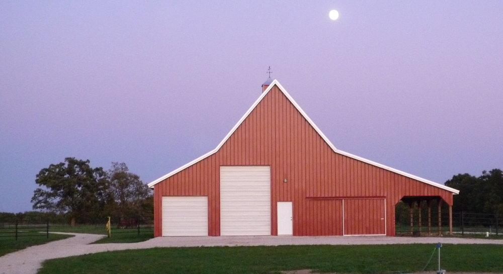 Barn by Moonlight