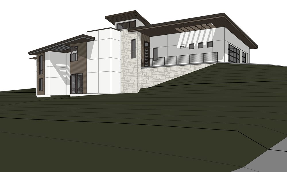 Southwest View rendered view