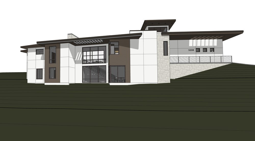 Front of House rendered view