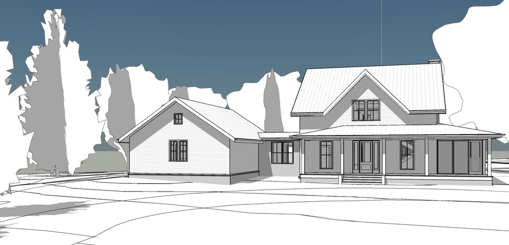 Rendered front of house