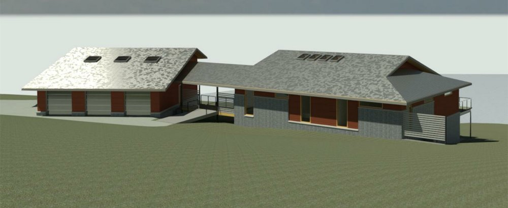 Rendered Front of House view