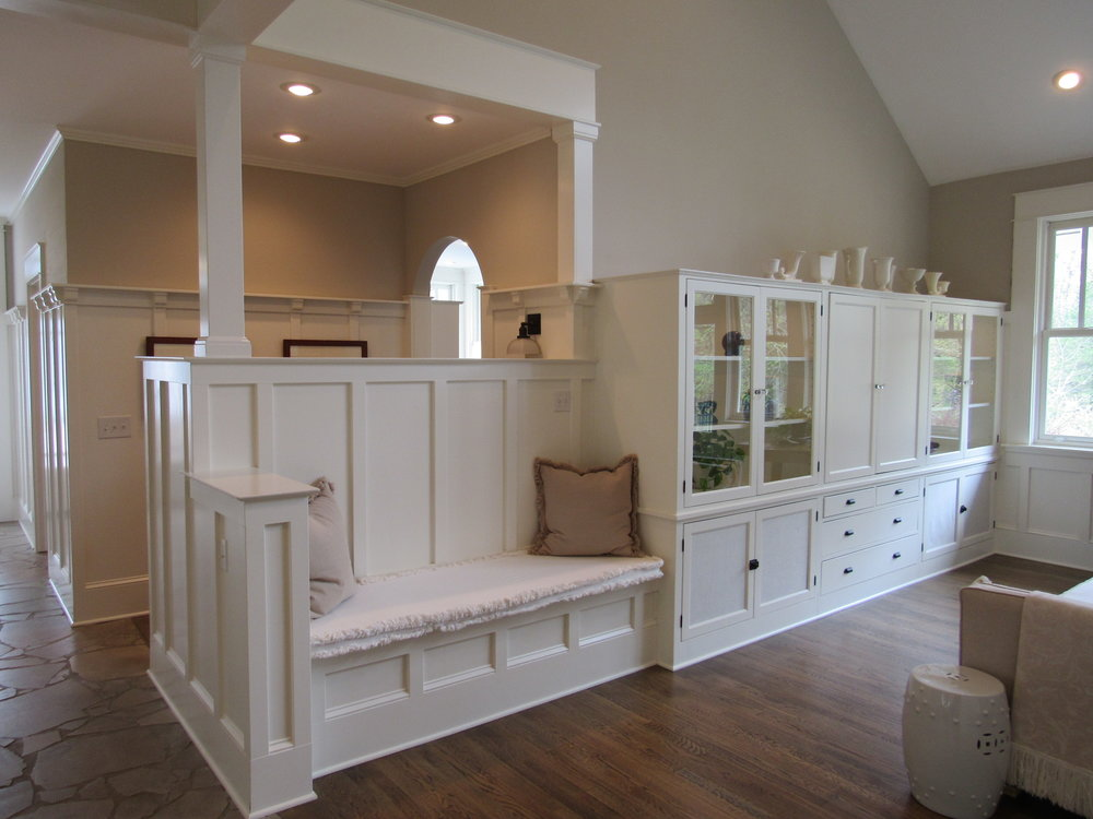 Craftsman-Style Bench & Casework
