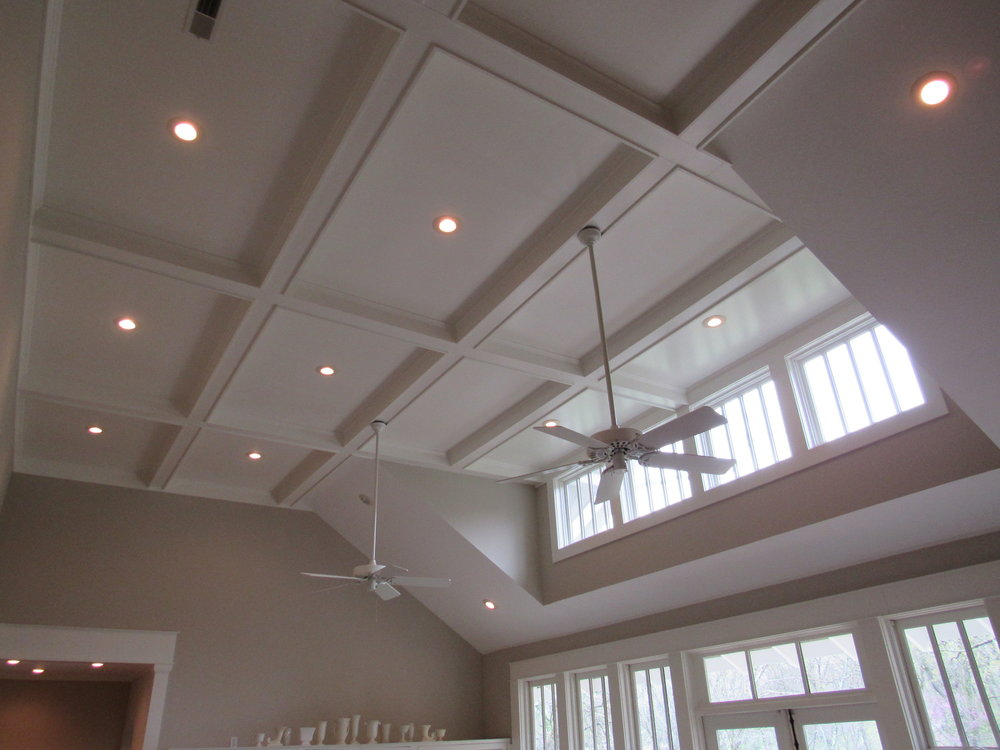 Coffered Ceiling & Clerestory Windows