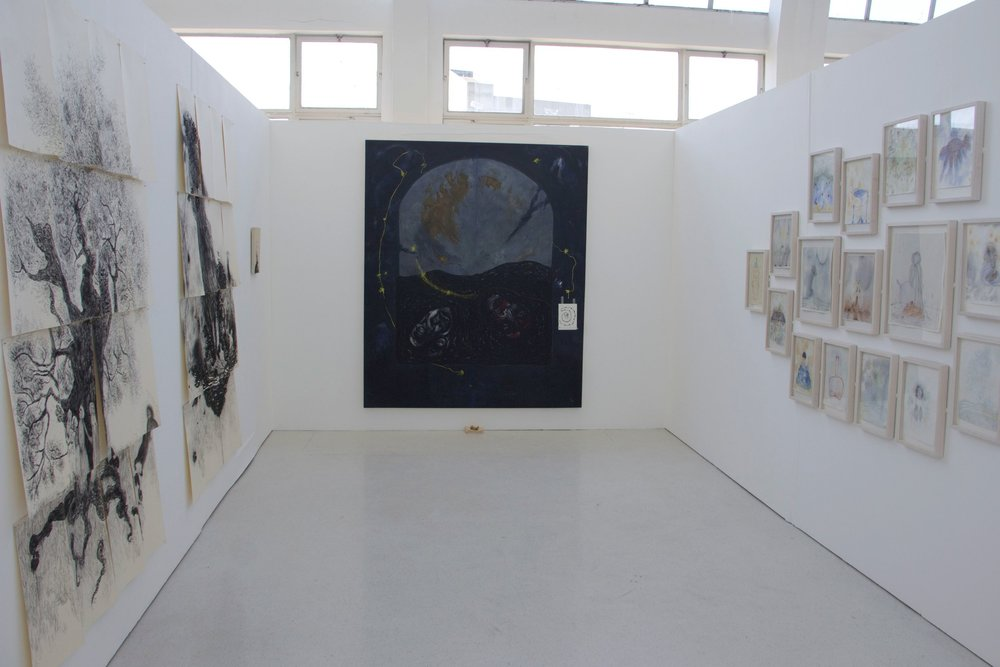 Installation View with 'Arch' painting