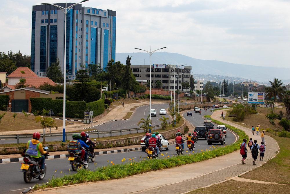 Street view of  Kamukina , one of Kigali's fast-growing neighbourhoods, July 2018