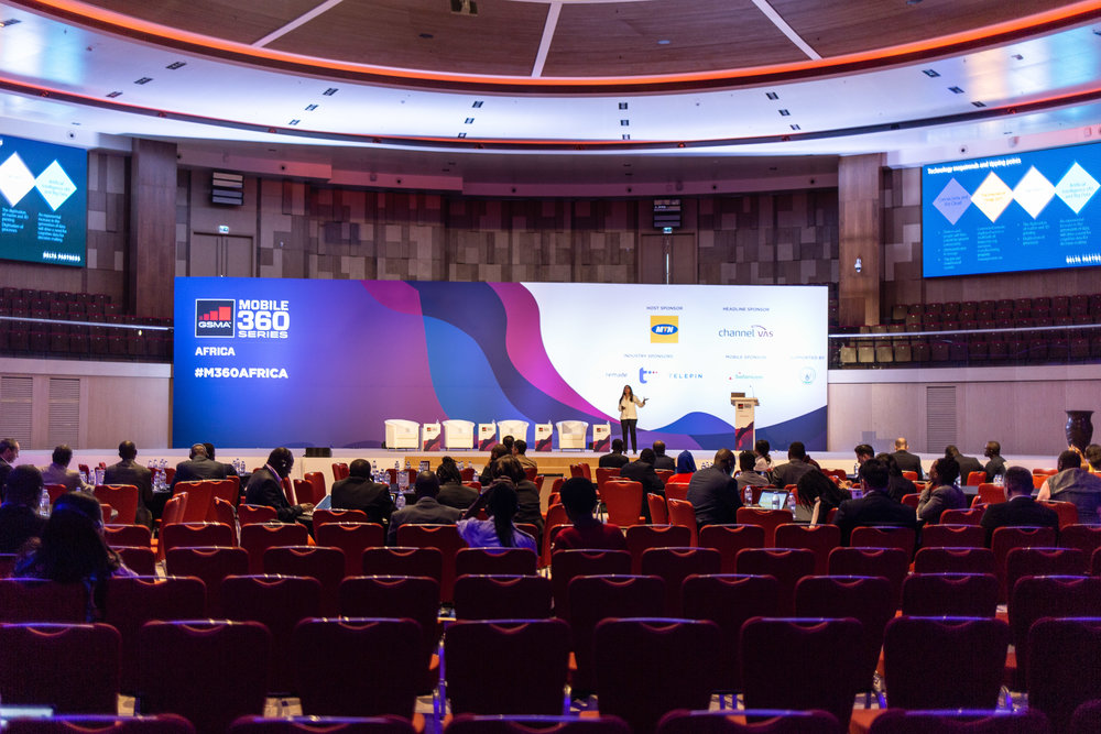 Main stage at GSMA's m360 Africa, 17-19th July 2018
