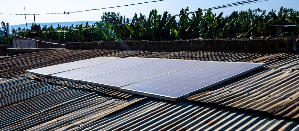 Micro-grid installed by Meshpower in rural Rwanda - July 2018