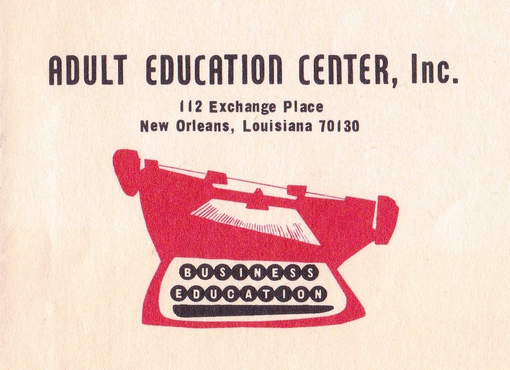 Adult Education Center logo and address