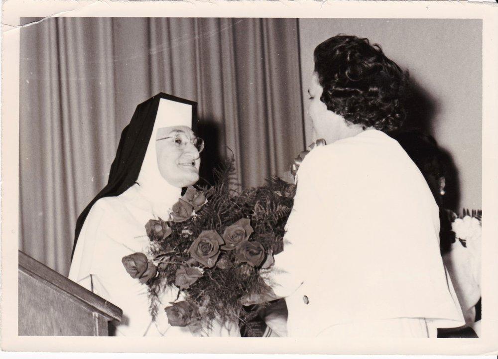 '66 Sr. Louise Lemoine OP and Alice Geoffray