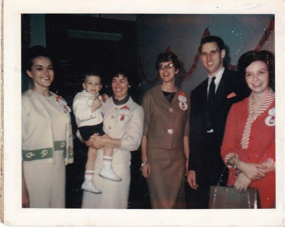 '67 Sharon Engen, Audrey Cullen, Betty Edwards, Bruce Long and Dolly Brien