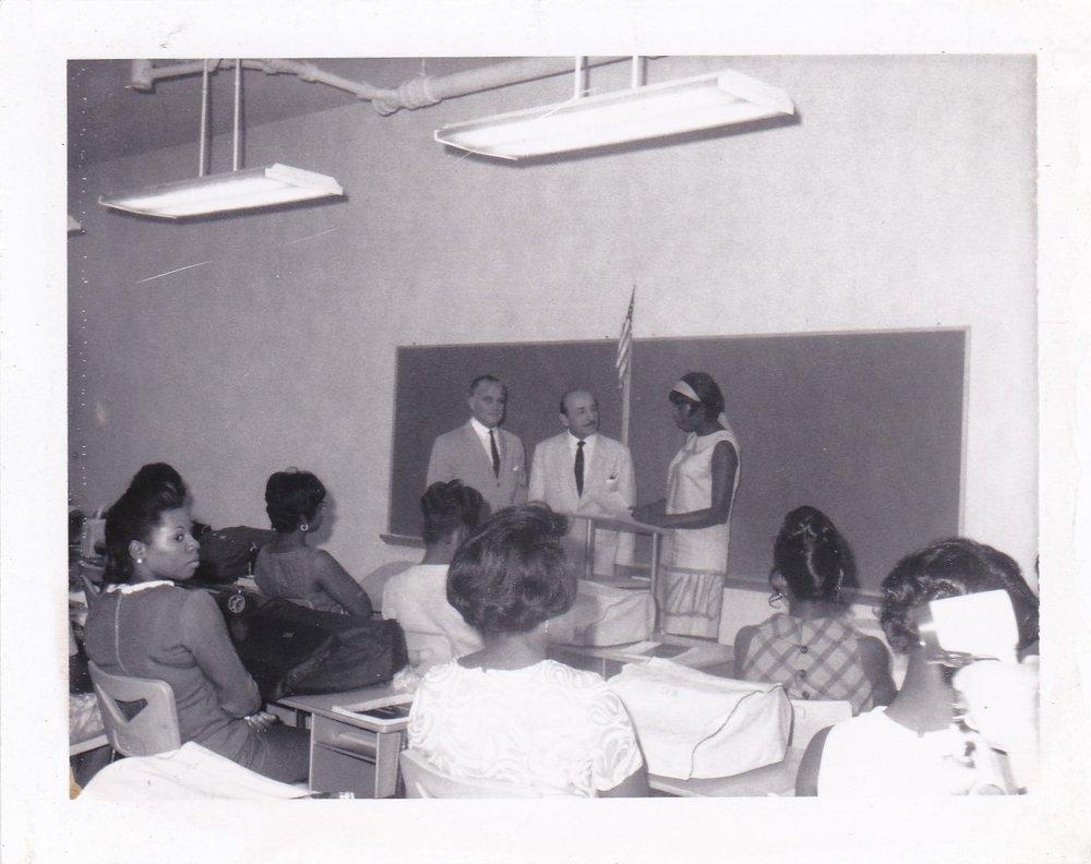'68 James Coleman, Victor Schiro and Student