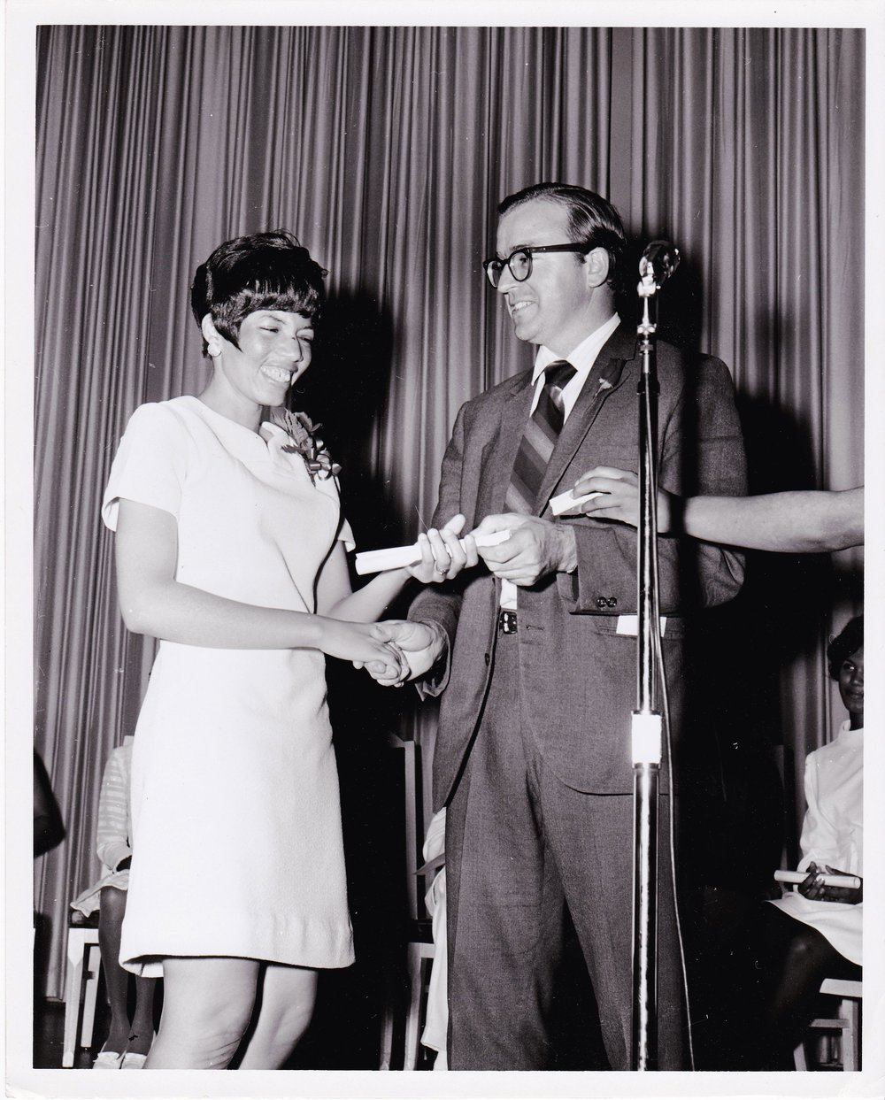 '69 Sylvia Cheatham and Father Timothy Gibbons