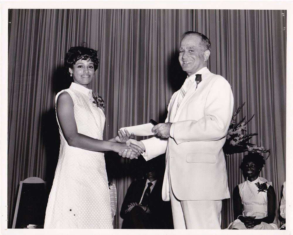 '69 Student and James Coleman at Graduation