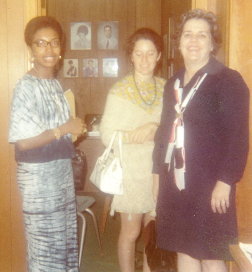 '70 Alice Geoffray with Guests or Students