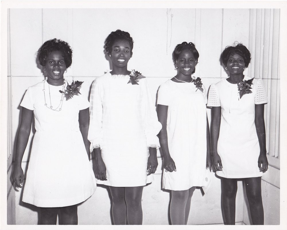 #12: '70 Grace Johnson, Myrnal Lowe, ________, Patsy Williams