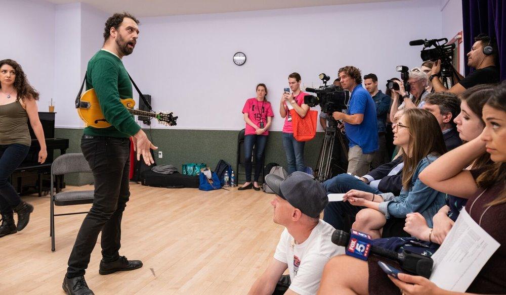 Press rehearsal for NYMF - photo Russ Rowland Photography