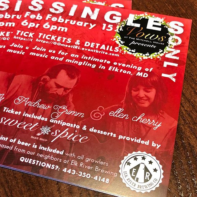 Look for our flyers around town!  If you're #single and looking for something to do for #valentinesday this #singlesevent is for you! #marylandsingles #phillysingles #delawaresingles #belairmd #northeastmd #elktonmd #havredegrace #havredegracemd #wilmingtonde