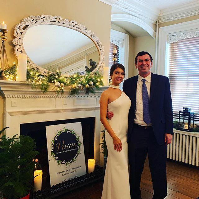 Mr. and Mrs. Paul and Elena Wheaton #smallceremony #smallwedding #intimatewedding #justmarried #brideandgroom #eloped #elktonmd
