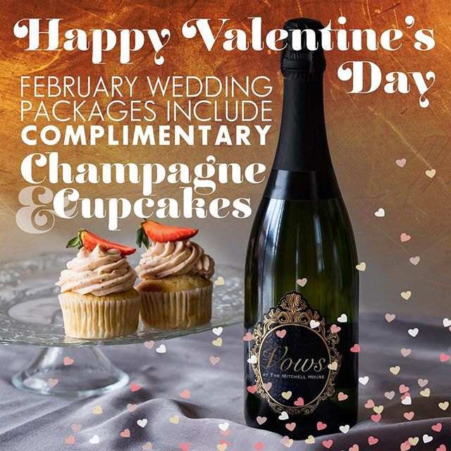 All weddings in February include champagne and cupcakes! Contact me today for more information. 443-350-4148 #HappyValentinesDay friends! #engaged #isaidyes #ido #weddingofficiant #brideandgroom #marylandbride #elopement #marylandelopement #elopemaryland #elopementwedding