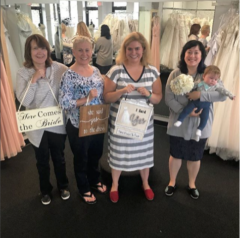 Sarah had a great experience dress shopping with us, finding that our dresses were unique and beautiful.  She became a part of our #HCTBride family when she said yes to the dress! It was wonderful getting to know Sarah and her family throughout her appointments and we are so happy to share her story.