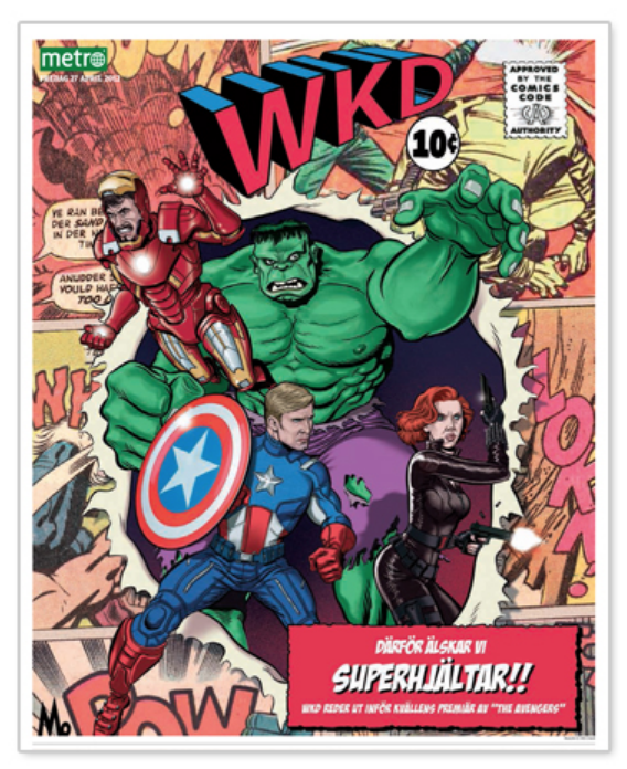 The Avengers: An international release + our international papers + star interviews = BIG REACH!