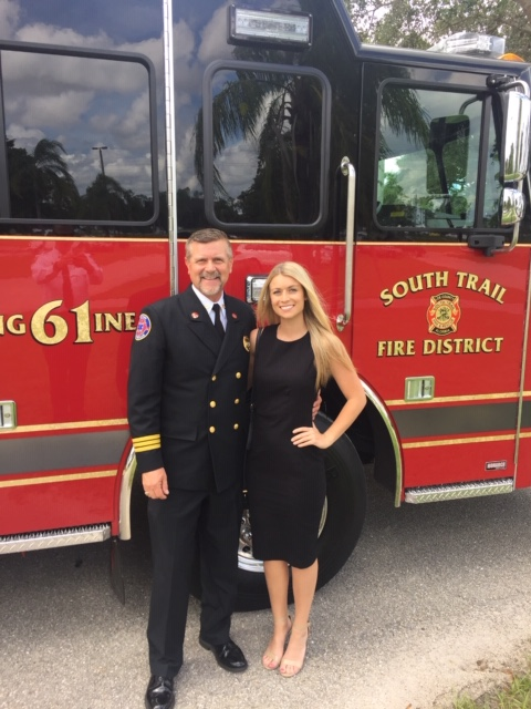 Mark with Savannah Goodman- Lee County Sheriff Marceno Swearing In