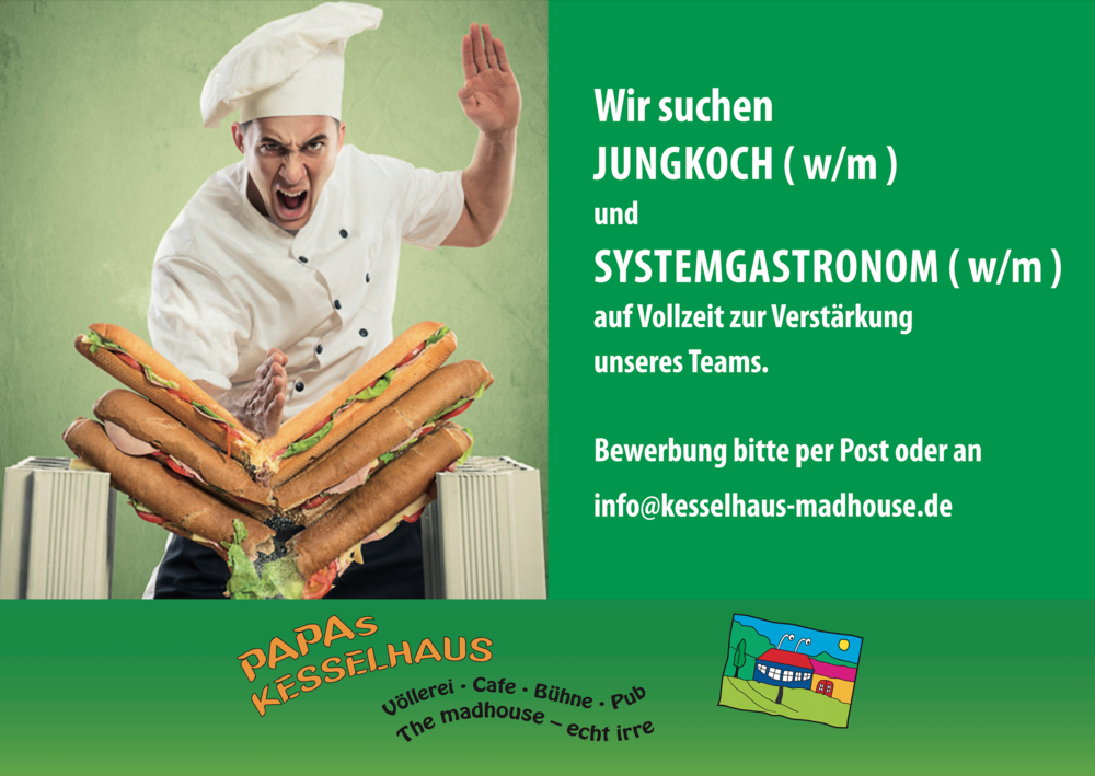 Kesselhaus Bad Tölz Job Koch und Systemgastronom