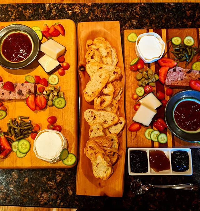 Couple cheese boards from a catering event we did this past weekend for a friend.  #localproduce #supportlocal #ottawa #catering #cheese #jam #pickles #makeniceboards #flavorcountry
