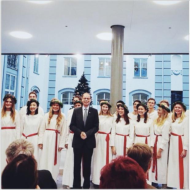Nobelpristagaren i ekonomi 2014 Jean Tirole önskade sig en bild med oss vilket vi glada ställde upp på.