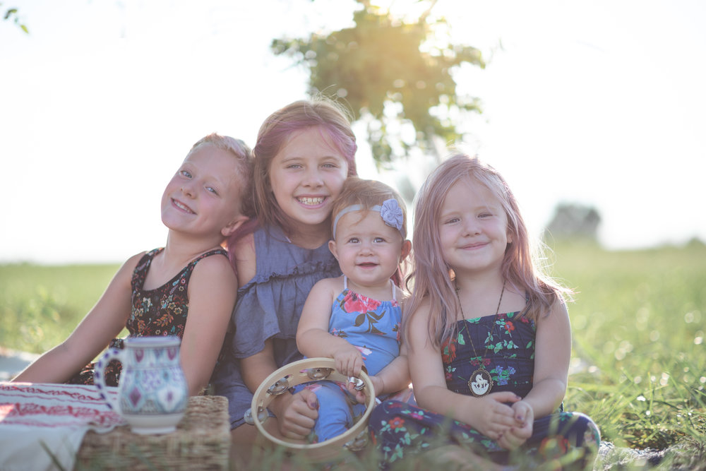 The Ahern girls, from left: Harper Lou, Dylan, Margaret, and Iva  (Photo by TEckert Photography)