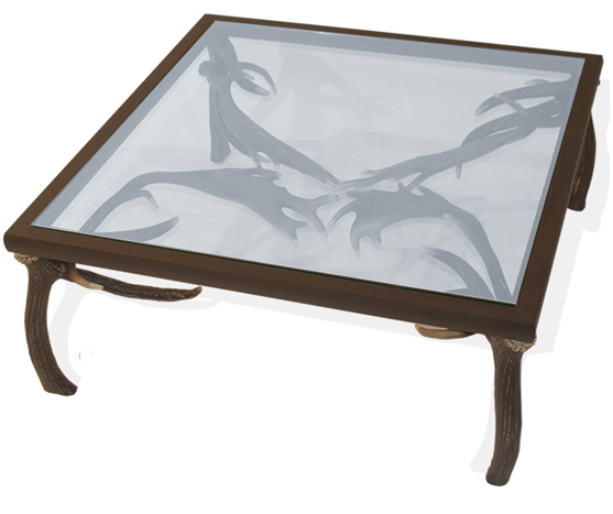 Antler Square Glass Coffee Table