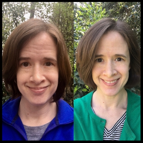 My Alcohol Free Journey: Before and After (Day 4 and Day 50), both make-up free.