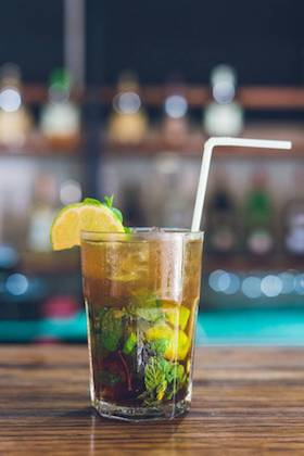 Mojito - Rum, mint, fresh lime, brown sugar and lemonade