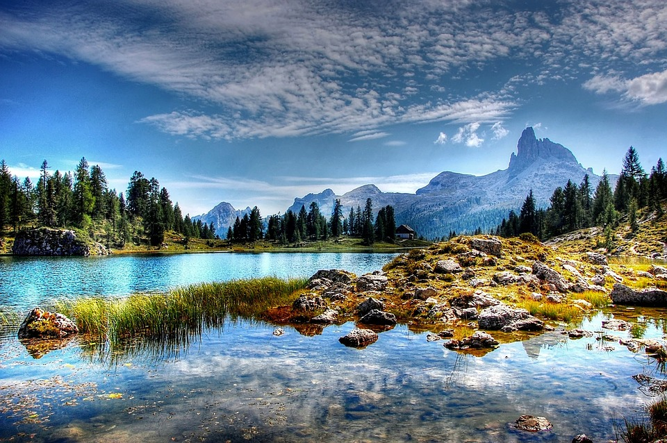 Lake and Mountain with Trees.jpg