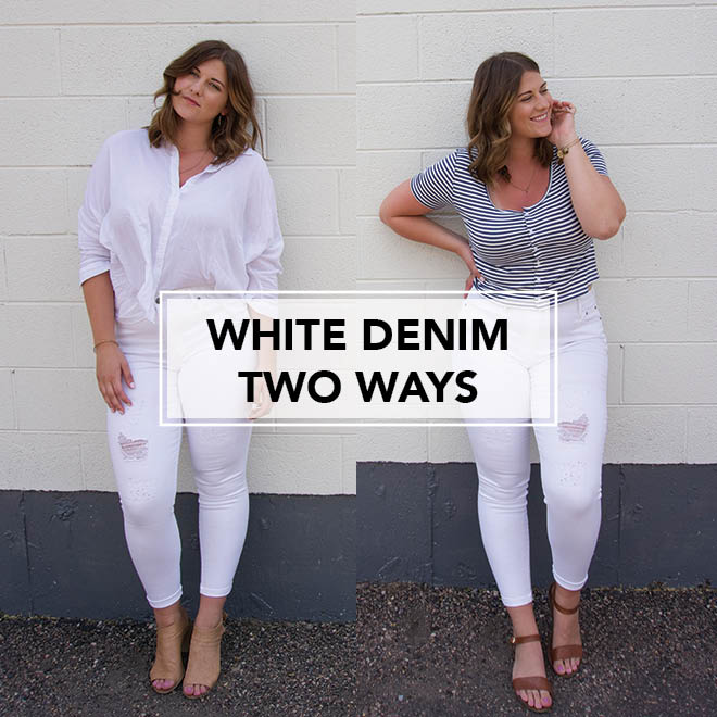 white denim top image